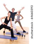 people group  doing fitness... | Shutterstock . vector #64660393