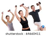 people group  doing fitness... | Shutterstock . vector #64660411