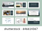 original presentation templates ... | Shutterstock .eps vector #646614367