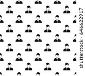 man pattern seamless in simple... | Shutterstock . vector #646622917