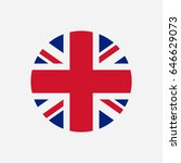 great britain flag. union jack... | Shutterstock .eps vector #646629073