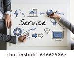 technical customer service... | Shutterstock . vector #646629367