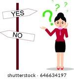 cute cartoon of business woman...   Shutterstock .eps vector #646634197