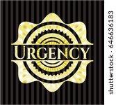 urgency shiny emblem | Shutterstock .eps vector #646636183