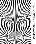 vector optical illusion lines... | Shutterstock .eps vector #646637173