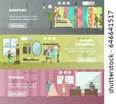 vector set of fashion salon ... | Shutterstock .eps vector #646641517