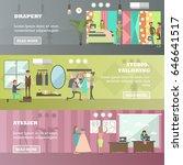 vector set of fashion salon ... | Shutterstock .eps vector #646641517