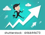 running to success. business...   Shutterstock .eps vector #646644673