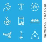 seed icons set. set of 9 seed... | Shutterstock .eps vector #646647253