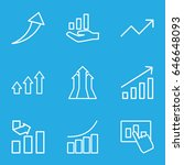 increase icons set. set of 9... | Shutterstock .eps vector #646648093