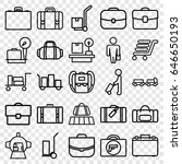 luggage icons set. set of 25... | Shutterstock .eps vector #646650193