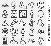 profile icons set. set of 25... | Shutterstock .eps vector #646652977