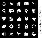 website icons on black...   Shutterstock .eps vector #646657777