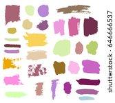 vector grunge watercolor ink... | Shutterstock .eps vector #646666537