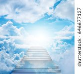 stairway to heaven  stairs on... | Shutterstock . vector #646677127