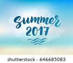 summer 2017 text  hand drawn... | Shutterstock .eps vector #646685083