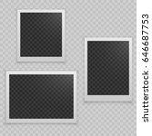 set of realistic vector photo...   Shutterstock .eps vector #646687753