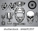 Set Of Motocross Racing With...