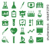 analysis icons set. set of 25... | Shutterstock .eps vector #646691593