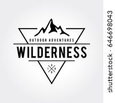 outdoor wilderness  mountain... | Shutterstock .eps vector #646698043