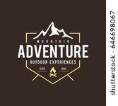 outdoor wilderness  mountain... | Shutterstock .eps vector #646698067