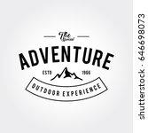 outdoor wilderness  mountain... | Shutterstock .eps vector #646698073