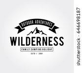 outdoor wilderness  mountain... | Shutterstock .eps vector #646698187