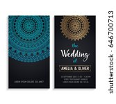 vector luxury wedding... | Shutterstock .eps vector #646700713