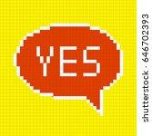 pixel yes bubble speech icon.... | Shutterstock .eps vector #646702393
