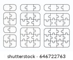 jigsaw puzzle vector flat blank ... | Shutterstock .eps vector #646722763