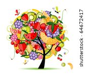 energy fruit tree for your... | Shutterstock .eps vector #64672417