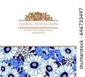 romantic invitation. wedding ... | Shutterstock .eps vector #646733497