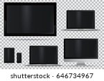 set of realistic tv  lcd  led ... | Shutterstock .eps vector #646734967