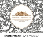 romantic invitation. wedding ... | Shutterstock . vector #646740817