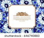 romantic invitation. wedding ... | Shutterstock .eps vector #646740883