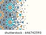 morocco disintegration template.... | Shutterstock .eps vector #646742593