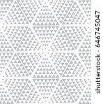 vector grey pattern. geometric... | Shutterstock .eps vector #646745047