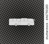 coach bus icon. | Shutterstock .eps vector #646750183