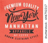 new york athletic typography  t ... | Shutterstock .eps vector #646752217