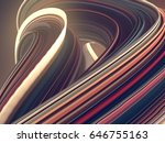 colored abstract twisted shape. ... | Shutterstock . vector #646755163
