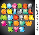 Joyful Cartoon Font   Letter...