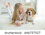child with dog  | Shutterstock . vector #646757527