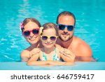 happy family having fun on... | Shutterstock . vector #646759417