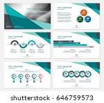 template presentation slides... | Shutterstock .eps vector #646759573