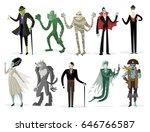 evil monsters horror films... | Shutterstock .eps vector #646766587