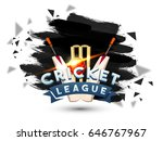 cricket league abstract brush... | Shutterstock .eps vector #646767967