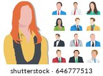 people. set of people icons.... | Shutterstock .eps vector #646777513