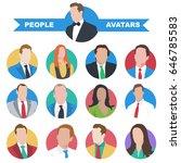 vector avatars of people. a set ... | Shutterstock .eps vector #646785583