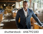 handsome attractive african... | Shutterstock . vector #646792183