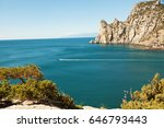 black sea coastline  crimea ... | Shutterstock . vector #646793443